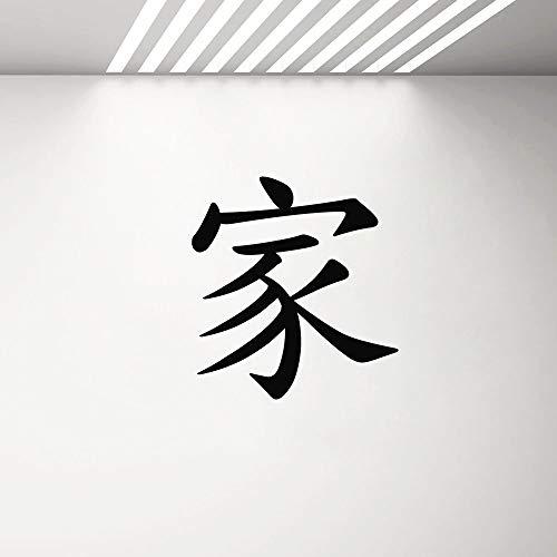 Yaonuli muursticker symbool huis vinyl sticker decoratie huis woonkamer familie muur