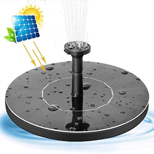 Solar-Teichpumpe, Kreis Solarwasserpumpe Schwimm Brunnen, 6 Düsen, für Vogel-Bad, Aquarium, Teich Garten