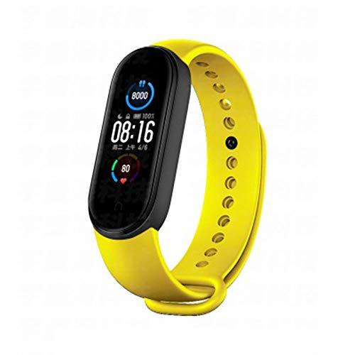LDJ Banda 5 Pulsera Inteligente Hombre Y Mujer Pantalla De 4 Colores Monitor De Ritmo Cardíaco Fitness Bluetooth Sports Impermeable Wristband Band 4 5 Watch (para iOS Android),E