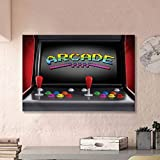 ParadiseDecor Video Games Aesthetic Posters Arcade Machine Retro Gaming Fun Joystick Buttons Vintage 80s 90s Electronic Funny Multicolor L20 x H40 Inch