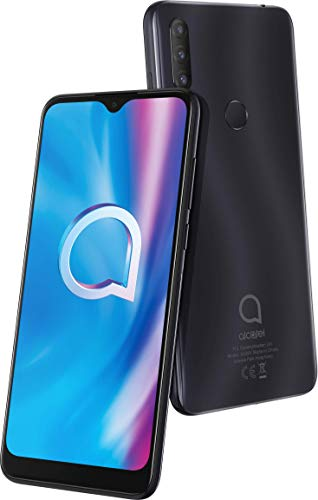 Alcatel 1S 2020 5028D Smartphone (15,8 cm (6,22 Zoll) HD+ Vast Display, 13+2+5 MP Kamera, Dual-SIM, 32 GB Speicher, 3 GB RAM, Android 10) Power Gray