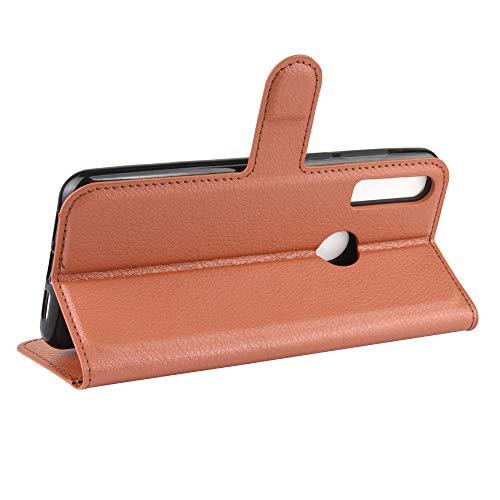 DAMAIJIA Funda Movil para Alcatel 1S 2020 Carcasa 5028Y Cuero PU Silicona Magnetic Wallet Protector Teléfono Flip Back Cover For Alcatel 1V 2020 / 3V 2020 Tapa con Soporte (Brown)