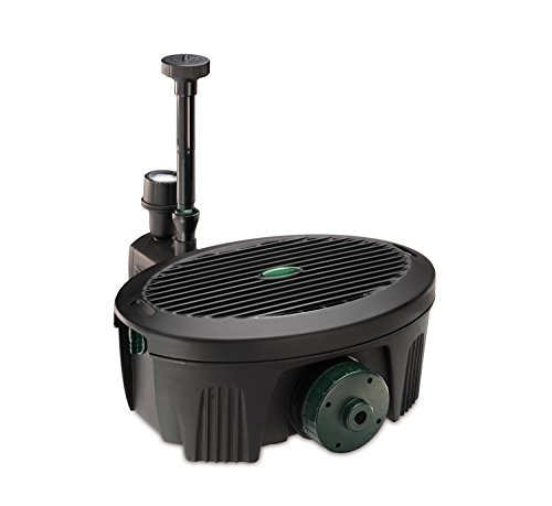 Blagdon Inpond 5-in-1 2000, 10w Pond Pump and Filter with UV Clarifier, LED Light, 3 Fountain Heads, for Ponds Up to...