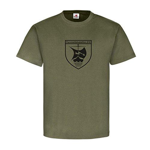 Fernmeldebtl 610 2te Kompanie Bundeswehr 2FmBtl 610 Funker Wappen Wikinger Schiff Blitz - T Shirt Herren Oliv #8186
