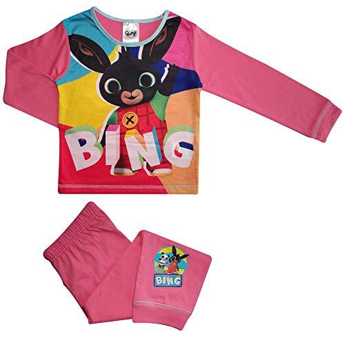 CBeebies Pijama infantil de Bing Bunny para niñas (tallas 3-4 años), color rosa