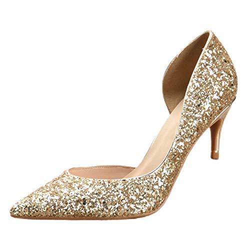 Zapatos de tacón bajo para mujer, con punta cerrada, zapatos de corte...