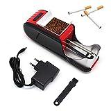 XIAOZSM Maquina Entubar Electrica Entubadora EléCtrica MáQuina De Entubado De Tabaco, Entubador Electrico para Llenado De Cigarros Entubar Cigarrillos De Fumar Entubadora Electrica para Liar Rojo