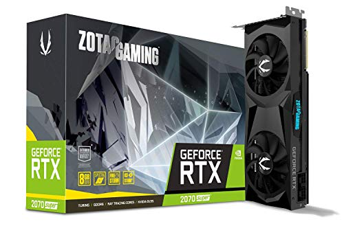 ZOTAC GAMING GeForce RTX 2070 SUPER Twin Fan 8GB GDDR6 256-bit 14Gbps Gaming Graphics Card, Ice Storm 2.0, Spectra Lighting, ZT-T20710F-10P