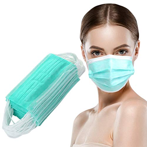 LHWY Disposable Cover Anti-dust Sport Cloth for Outdoor Outdoor Multifunction Fabric Cloth Earloop Reusable Sport Scarves Fashion for School Student Children Adult Unisex Green 30 PCS