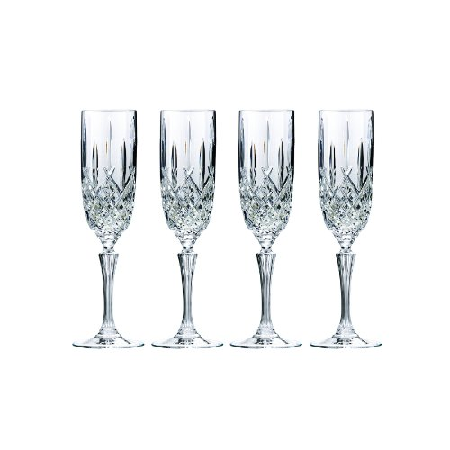 Marquis by Waterford Markham by Marquis Champagne Glasses, 2.2 x 2.2 x 9.5, Clear Crystalline