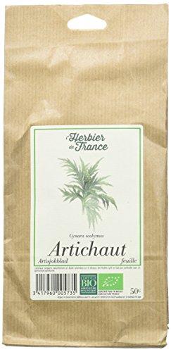 Lherbier de France Artichaut Feuilles Bio Sachet, Kraft, 50 g 1 Unité