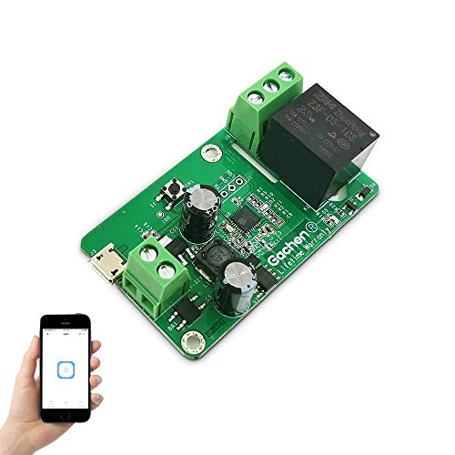 EACHEN WiFi Wireless Inching Relay Momentary/Self-Locking Smart Switch Module DIY Smart Home Gadget DC 5-32V Input Ewelink App Compatible with Alexa Echo Google Home Nest IFTTT (ST-DC4)
