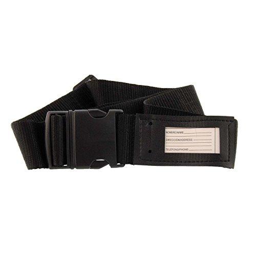 PAULA ALONSO PA Bracelet noir pour valises avec porte-cartes Taille: Taille unique Couleur: NOIR