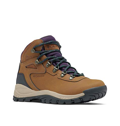 Columbia baby-girls Newton Ridge Plus Waterproof Hiking Boot, Light Brown/Cyber Purple, 7.5 W US
