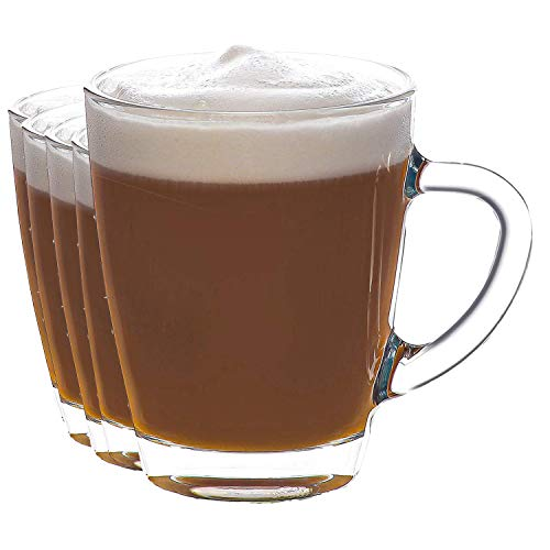 Tazas de café de cristal, vasos de café Dolce Gusto, tazas de café, taza de café con latte 350/300 ml