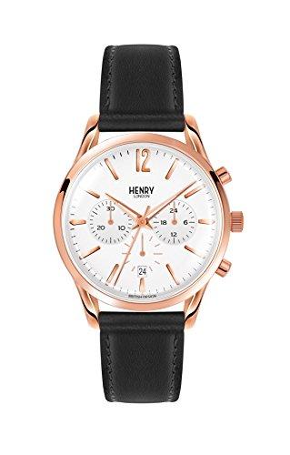 Henry London Reloj Analógico para Unisex de Cuarzo con Correa en Cuero 5018479077572