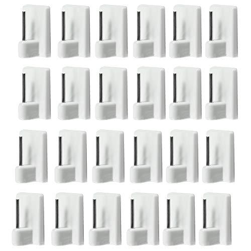 com-four® 24x Crochets Autocollants pour Barres de Rideaux (16 pièces) - Crochets adhésifs pour Les Rideaux (24 pièces)