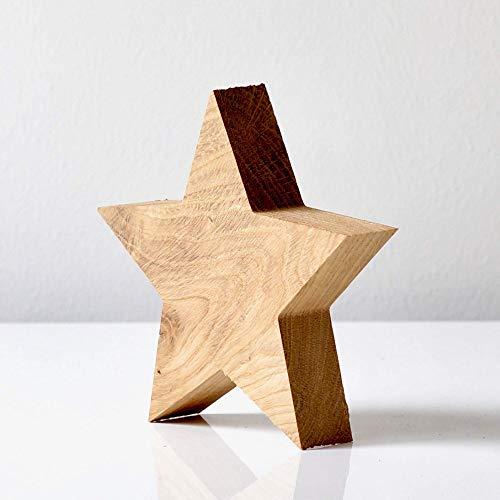Holzstern aus Eiche Massivholz zum Aufstellen in unterschiedlichen Größen als Weihnachtsdeko, Weihnachtsdeko Holz, Weihnachtsdeko Figuren, Weihnachtsdeko Tisch, Holzdeko