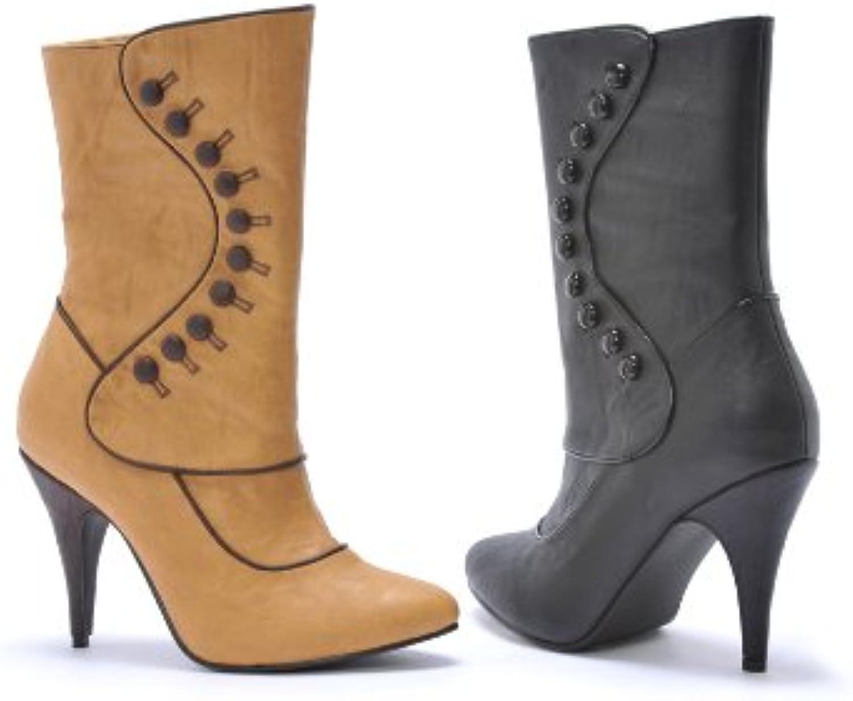 Ellie 418-RUTH 4  Heel Women's Boot, Black PU, 12 Size