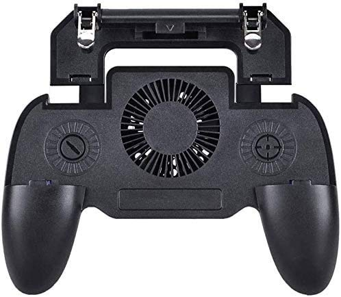 YUYANDE Controlador de Juegos móvil Gamepad con Banco de energía y Ventilador de refrigeración Disparador Objetivo L1R1 L2R2 Lanzamiento de Joystick para 4.7-6.5'Accesorios de teléfono Android
