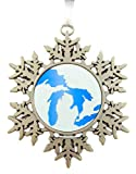 Michigan Great Lakes Ornament Metal Christmas Tree Decoration Gift Boxed