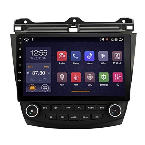 WY-CAR Unidad Principal De Radio De Coche Estéreo De Coche De Doble DIN De 10.1 Pulgadas para Honda Accord 7 2003-2007, Navegación GPS con Android 8.1, Bluetooth/Radio/Mirrorlink/FM/Cámara Trasera