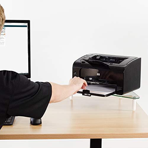 VIVO Glass Ergonomic Tabletop Riser, Triangle Desktop Universal Corner Stand for Computer Monitor and Laptop STAND-V000Q Photo #3