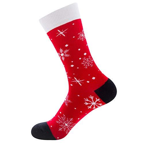 NOBRAND 6Pares De Calcetines De Otoño E Invierno Para Hombre Calcetines De Marea De Tubo Para Hombre Santa Elk Calcetines De Algodón