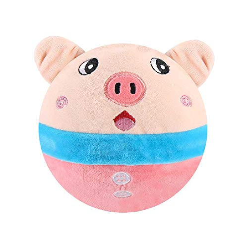 J&X Bouncing Pig Bread Superman Bouncing Ball Juguete De Peluche Eléctrico Versión De Carga USB Seagrass Pig Golpe de Carga USB del Cerdo Meng + luz
