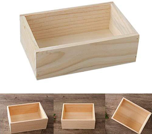 Milopon Boîte de rangement en bois vintage Boîte de rangement en bois
