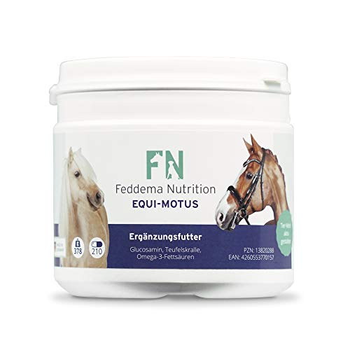 Feddema Equi-Motus - Complément alimentaire pour cartilage et articulations avec glucosamine, griffe du diable et acides gras oméga-3
