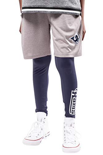 Ultra Game NFL Jungen 2-teiliges Leggings & Shorts Training Kompressionsset, Jungen, Boys 2 Piece Leggings & Shorts Training Compression Se, Navy, 14-16