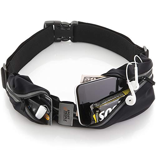 sport2people Running Belt for Men and Women, Fanny Pack for Running, Phone Holder for Running, Running Pouch, Running Belts for Women,...