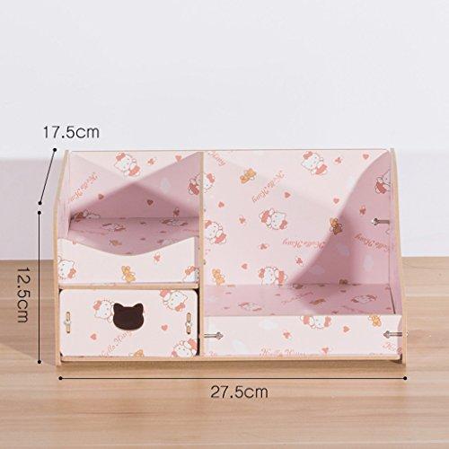 Bureau Boîte de rangement cosmétiques tiroir Cute Dresser Soins de la peau Bijoux Finition Tablette Bois Bricolage (couleur : N ° 4)