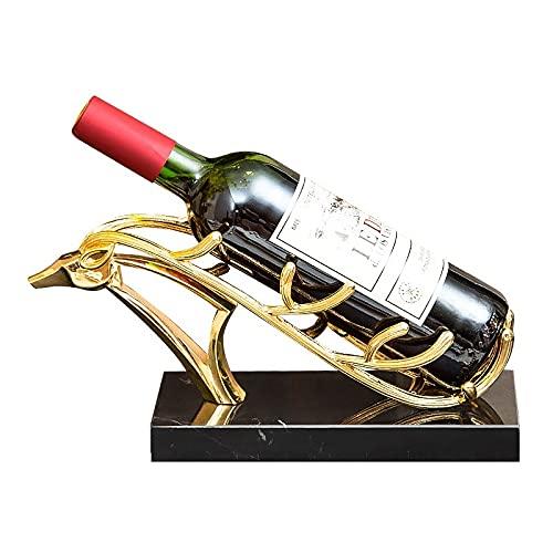 Estante de vino Botellas individuales Adornos de botellas de vino, bastidores de titulares de botellas de vino, Metal y mármol Organizador de almacenamiento de vino Free Pendientes para el gabinete de