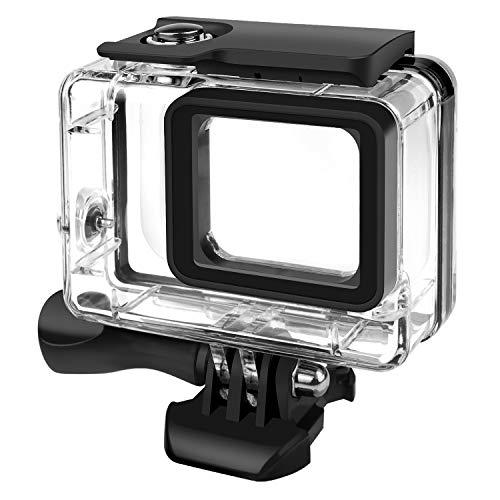 Rhodesy Custodia Protettiva Impermeabile per GoPro Hero 7(Solo nero) Hero 2018 Hero 6 Hero 5, Custodia Subacque Include Supporti e Viti per GoPro Hero 2018 Hero 7(Nero)/6/5 Action Camera