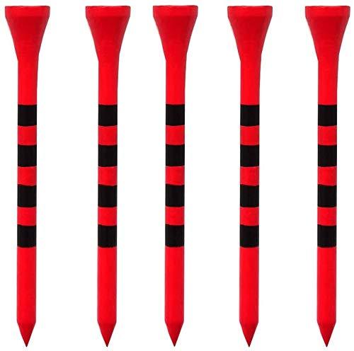 LIKOSO Tees de madera de golf de 70 mm, 100 tees de golf de bambú