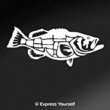 Express Yourself Products Goliath Grouper (White - Reverse Image - Medium) Decal Sticker - Saltwater Fish Collection