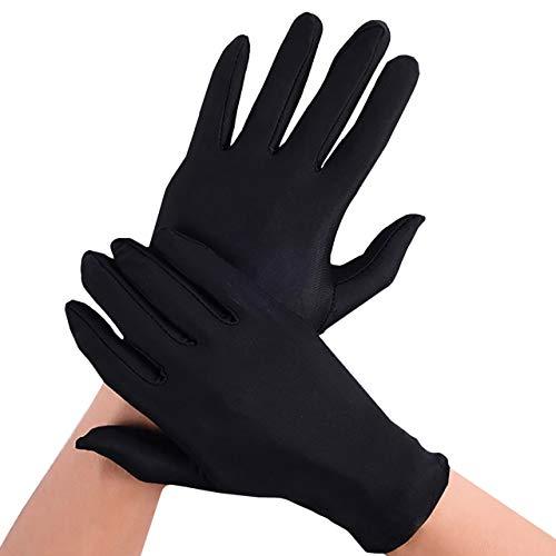 BUZZxSELECTION(バズ セレクション) サテン 布 手袋 保護 ハンドケア 貴重品 鑑定 白 黒 冠婚葬祭 メンズ レディース GB007 (02 ブラック)