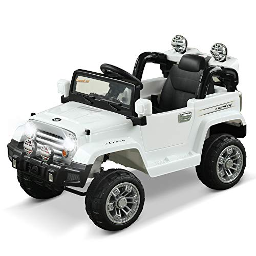 Aosom Kids Ride-on Car, Off-Road Truck with MP3 Connection,...