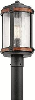 Kichler Lighting Barrington Distressed Black and Wood Post Light, 17.85 in H