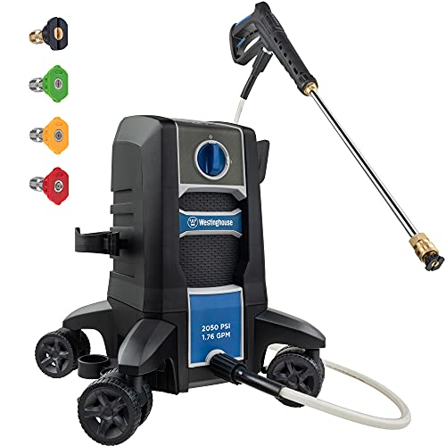 Westinghouse Electric Pressure Washer 2030 PSI MAX 1.76 GPM with Anti-Tipping Technology, Soap Tank and 4-Nozzle Set
