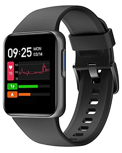 Willful Smartwatch Uomo Donna Orologio Fitness Saturimetro Cardiofrequenzimetro da Polso Orologio Contapassi Impermeabile IP68 Notifiche Chiamate e Whatsapp Orologio Sportivo Android iOS Compatibile