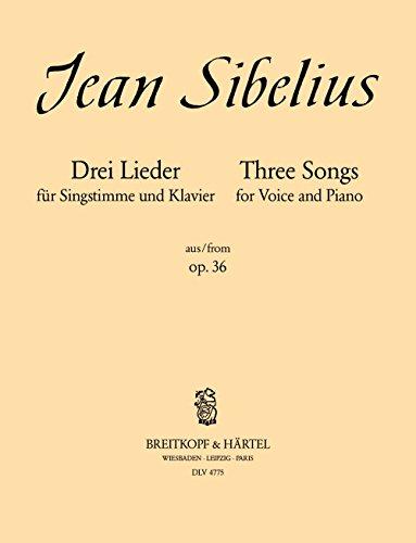 3 Lieder aus op. 36 für mittlere Stimme und Klavier - Schwarze Rosen - Doch mein Vogel... - Ballspiel in Trianon (DLV 4775)