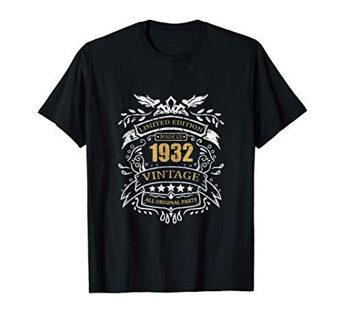 Limited Edition 88° Compleanno Idea Regalo Vintage 1932 Maglietta