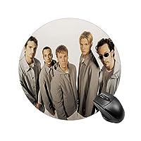 Backstreet Boyラウンドマウスパッド、PC ノートパソコン オフィス用 円形 デスクマット、ズされたゲーミングマウスパッド 滑り止め 耐久性が