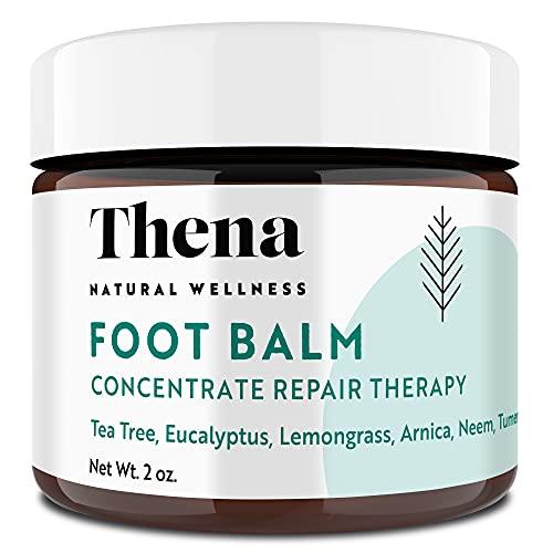Tea Tree Oil Antifungal Cream Extra Strength, Athletes Foot Balm Dry Skin Cracked Feet & Heel Jock Itch Relief Toenail Fungus Treatment Callus Ringworm For Humans, Best Natural Anti Fungal Foot Care