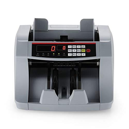 Detectormachine voor geldteller, personaliseerbaar, rekenmachine voor gesorteerde rekeningen, met zwart lcd-display en intelligente spraakoverdracht, kan geformatteerd worden.