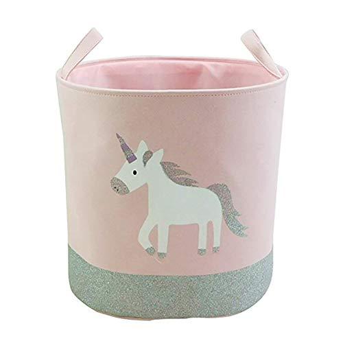 Chytaii. Cesta De Almacenamiento De Baño Unicornio Cesto para Guardar Cosas Cestos para La Colada Infantil