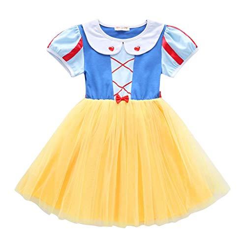 Yanhoo Schneewittchen Kostüm für Mädchen Babykostüme Prinzessin Kostüm Baby Kleid Fasching Karneval Weihnachten Sets Verkleidung